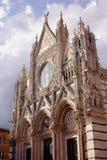 Facciata di Siena della cattedrale Immagini Stock