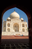 Facciata di Taj Mahal Immagini Stock