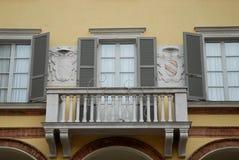 Facciata di un monumento storico nella città di Crema nella provincia di Cremona in Lombardia (Italia) Fotografia Stock
