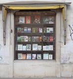 Facciata di un negozio di libro a Maribor, Slovenia fotografia stock
