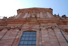 Facciata di una chiesa a Heidelberg Germania Immagine Stock Libera da Diritti