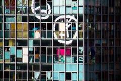 Facciata di una costruzione abbandonata occupata alloggiando movimento sociale Fotografie Stock Libere da Diritti