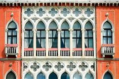 Facciata di una costruzione veneziana Immagini Stock
