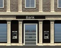 Facciata di una succursale bancaria Immagine Stock Libera da Diritti
