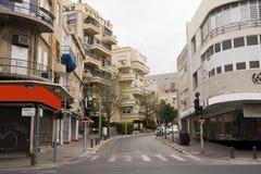 Facciata di vecchia casa rinnovata Israele Fotografie Stock Libere da Diritti