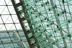 Facciata di vetro alta tecnologia Fotografia Stock Libera da Diritti