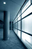Facciata di vetro bianca Fotografia Stock