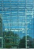 Facciata di vetro dell'edificio moderno di Minimalistic Fotografia Stock