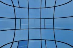 Facciata di vetro distorta Fotografia Stock Libera da Diritti