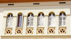 Facciata di Windows di una costruzione Fotografia Stock Libera da Diritti