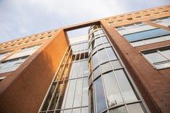 Facciata e mattoni rossi del comune di Amsterdam Immagine Stock Libera da Diritti