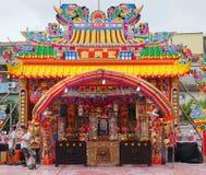 Facciata ed altare di ripiego del tempio Immagine Stock Libera da Diritti