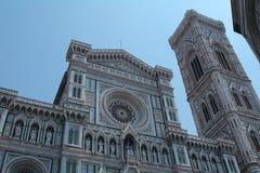 Facciata frontale del duomo a Firenze Fotografia Stock Libera da Diritti