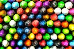 Facciata frontale del pastello colorato Fotografia Stock Libera da Diritti