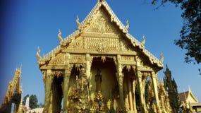 Facciata frontale del tempio dell'oro Fotografie Stock Libere da Diritti