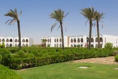 Facciata frontale dell'hotel di località di soggiorno Fotografie Stock
