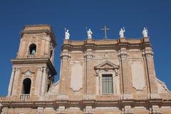 Facciata frontale della cattedrale di Brindisi Immagine Stock