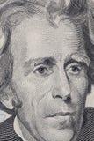 Facciata frontale di una banconota in dollari 20 Fotografia Stock Libera da Diritti