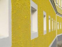 Facciata gialla Fotografia Stock