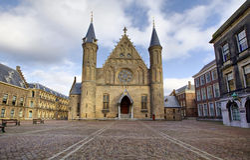 Facciata gotica di Ridderzaal in Binnenhof, Aia Immagine Stock Libera da Diritti
