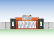 Facciata industriale di costruzione Fotografia Stock