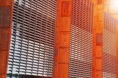 Facciata moderna del metallo e di vetro Fotografia Stock Libera da Diritti