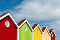 Facciata, multi colorata, isola di Langeoog Fotografia Stock Libera da Diritti