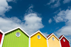 Facciata, multi colorata, isola di Langeoog Immagini Stock