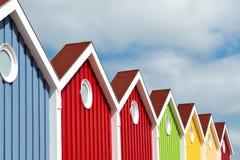 Facciata, multi colorata, isola di Langeoog Fotografie Stock Libere da Diritti
