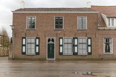 Facciata olandese della casa Fotografia Stock Libera da Diritti