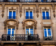 Facciata Parigi Fotografie Stock Libere da Diritti