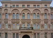 Facciata posteriore della casa in San Pietroburgo, Russia del ` s di Kosikovsky Fotografia Stock