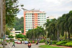 Facciata precisa di Cititel in Kota Kinabalu, Malesia immagine stock libera da diritti