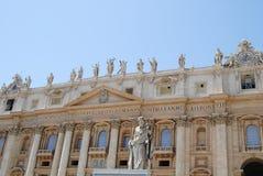 Facciata principale di Città del Vaticano della st Peter s fotografia stock libera da diritti
