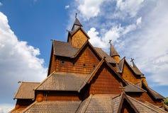 Facciata Telemark Norvegia Scandinavia di Heddal Stave Church Immagini Stock Libere da Diritti