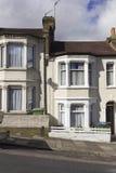 Facciata tradizionale delle case di Britannici Fotografia Stock