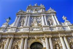 Facciata Venezia Italia di Santa Maria Giglio Zobenigo Church Baroque immagine stock libera da diritti