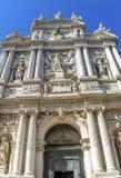 Facciata Venezia Italia di Santa Maria Giglio Zobenigo Church Baroque fotografia stock libera da diritti