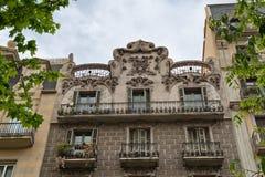 Facciate della Camera a Barcellona, Spagna fotografia stock