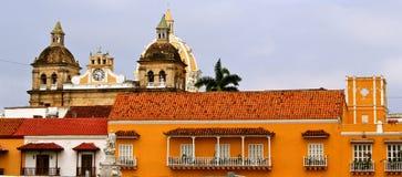 Facciate di Cartagine de Indias, Colombia Fotografia Stock