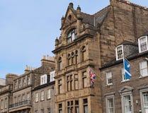Facciate edificio di Edimburgo Fotografia Stock
