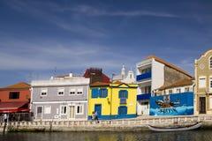 Facciate variopinte Aveiro Portogallo Fotografia Stock