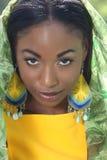 Face étnica da mulher: Beleza africana, diversidade Fotos de Stock Royalty Free