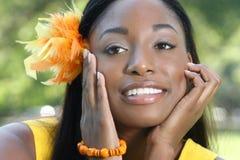 Face étnica da mulher: Beleza africana, diversidade Imagem de Stock Royalty Free
