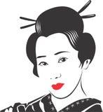 Cara 10 da gueixa ilustração royalty free
