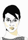 Face. A  illustration of a woman\'s face Stock Image