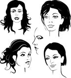 Face. The thought up female faces Royalty Free Stock Photo