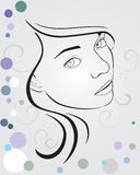 Face. Vector illustration of a beauty face Stock Images