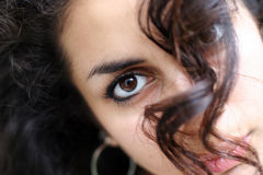 Face abstract. Of a beautiful middle eastern girl Royalty Free Stock Photo