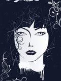 Face abstrata Ilustração do Vetor